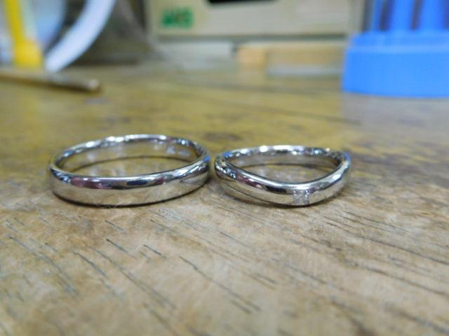 甲丸の結婚指輪 甲丸のマリッジリング