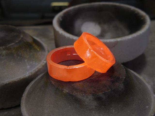 鍛造 結婚指輪 幅広