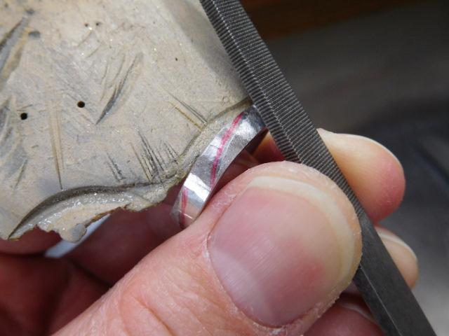 マリッジリング 削り方