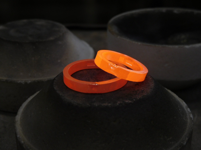 結婚指輪 ロウ付け