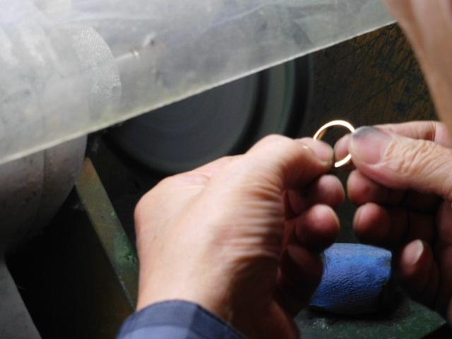 k18指輪 バフ掛け