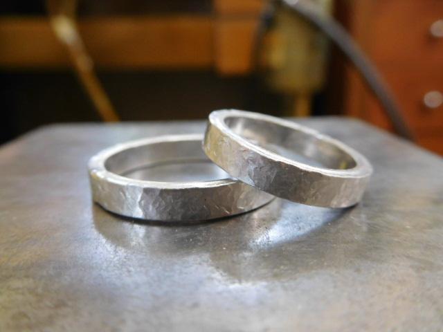 結婚指輪 打ち出し