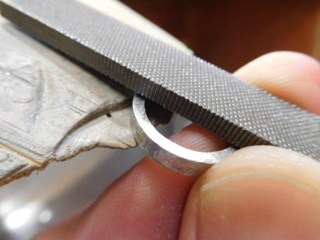 指輪 幅を削る