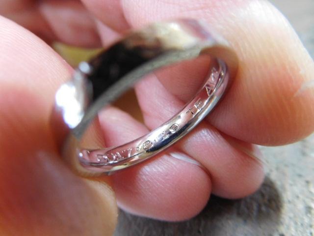 指輪のリフォーム 刻印