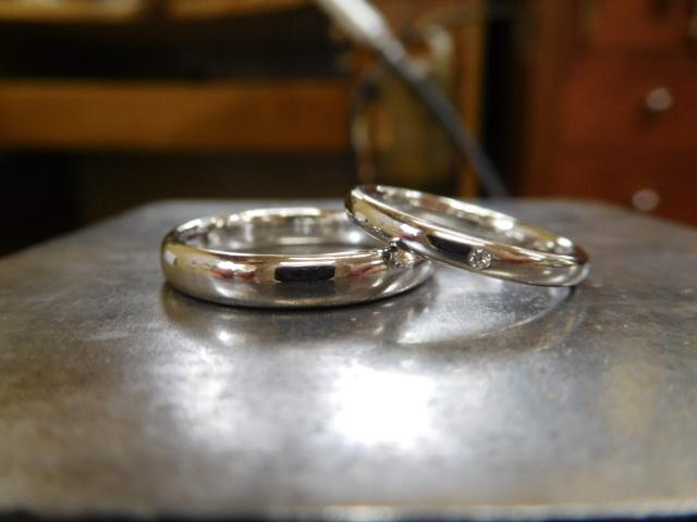 結婚指輪 甲丸