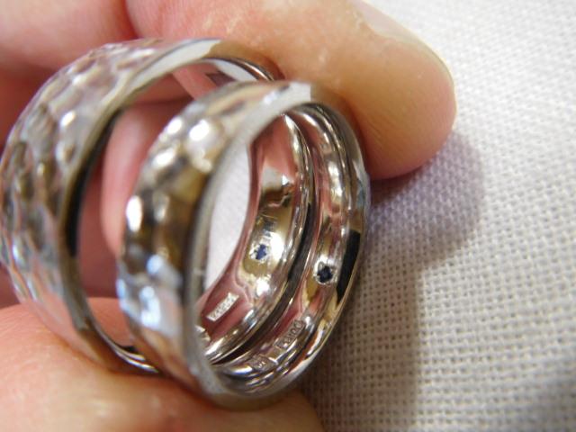 太い結婚指輪 刻印を入れる