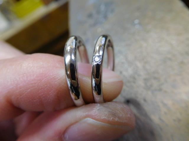 結婚指輪 甲丸 細い