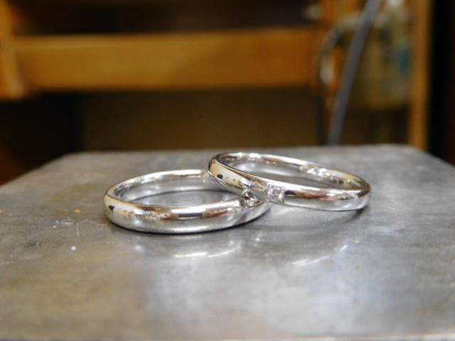 結婚指輪 シンプル 甲丸