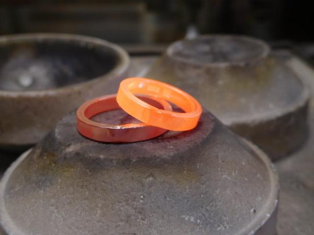 プラチナ結婚指輪 共付け