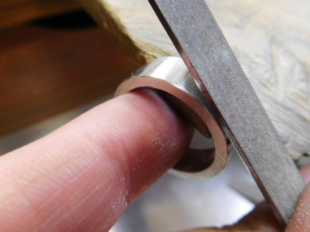幅広 平打ち指輪