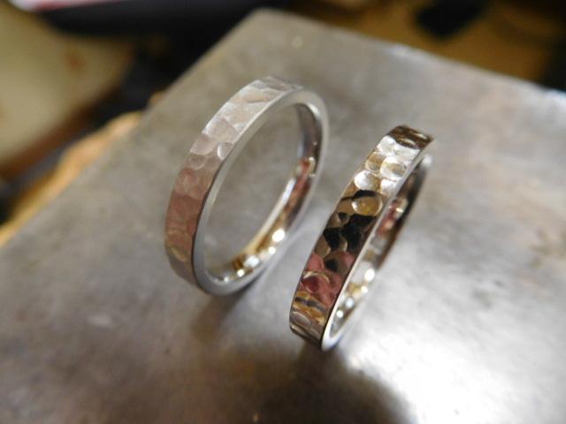 槌目 結婚指輪 プラチナ