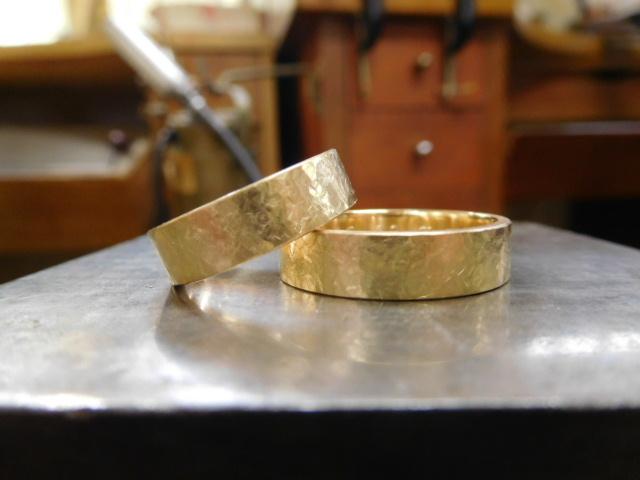 K18結婚指輪 太い