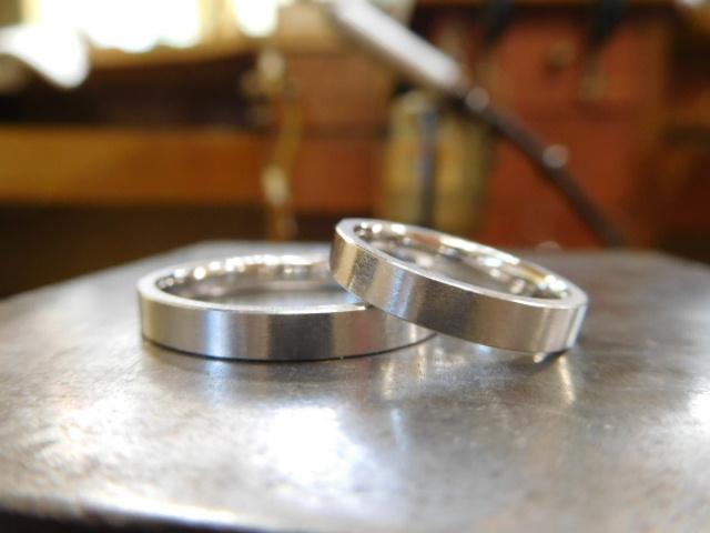 結婚指輪 平打ちリング
