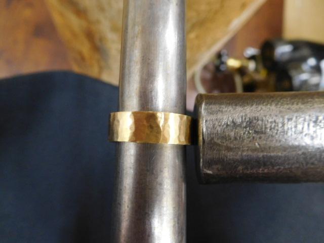 金の指輪 サイズ伸ばし