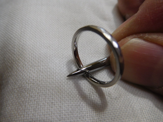 指輪 ヘラ掛け