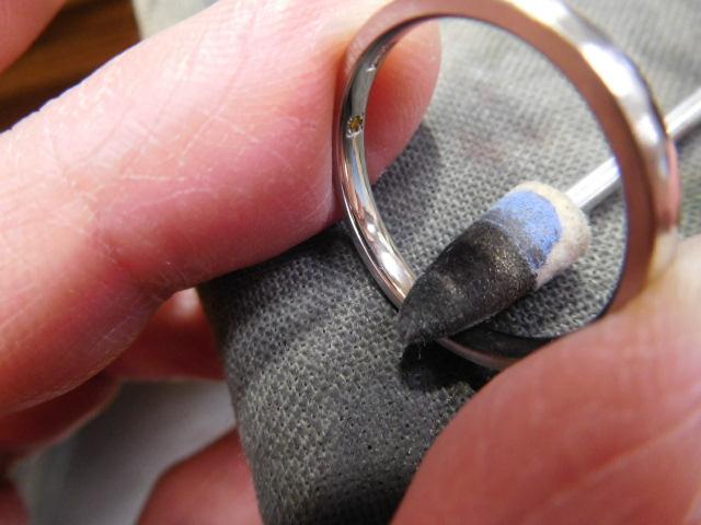 指輪 バフ掛け