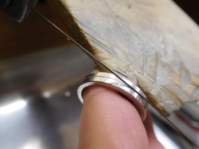 指輪 線の入れ方