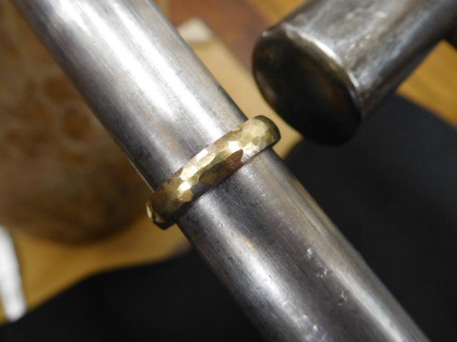槌目 甲丸 指輪