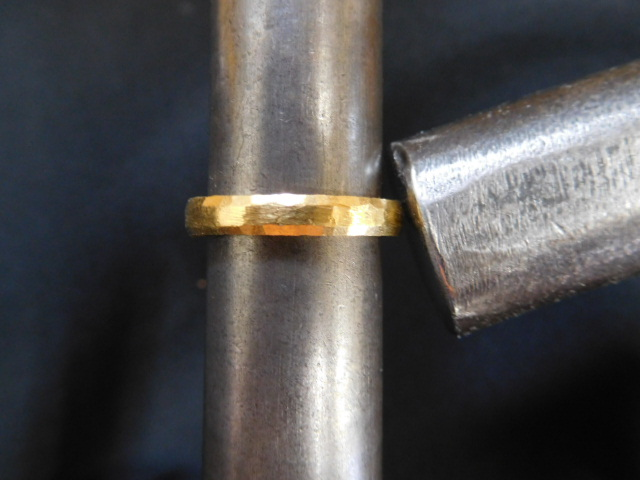 純金リング 甲丸 作り方