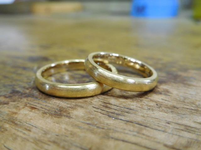 結婚指輪 純金リング