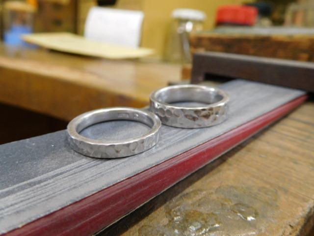 鍛造結婚指輪 キズ消し