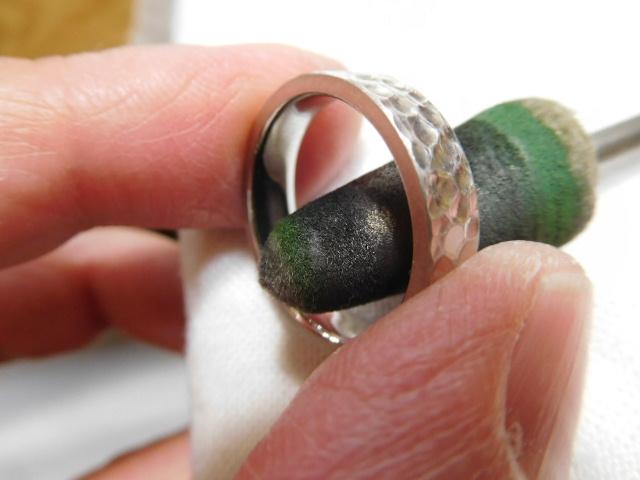 鍛造結婚指輪 ミガキ