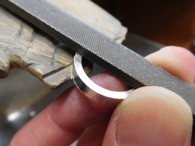 結婚指輪 彫金