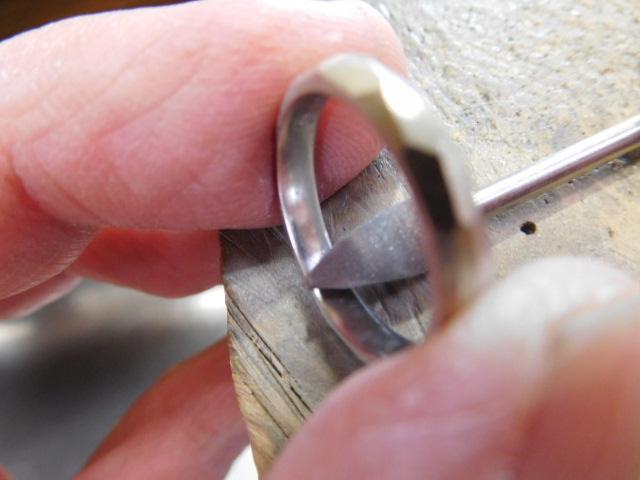 指輪 彫金
