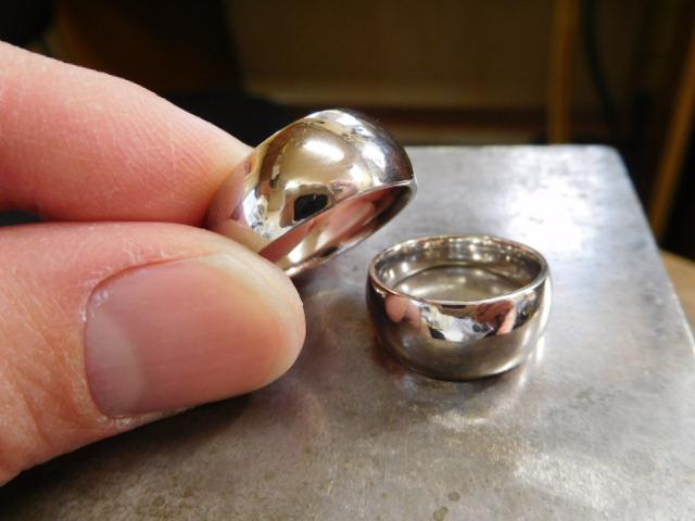 結婚指輪 月形