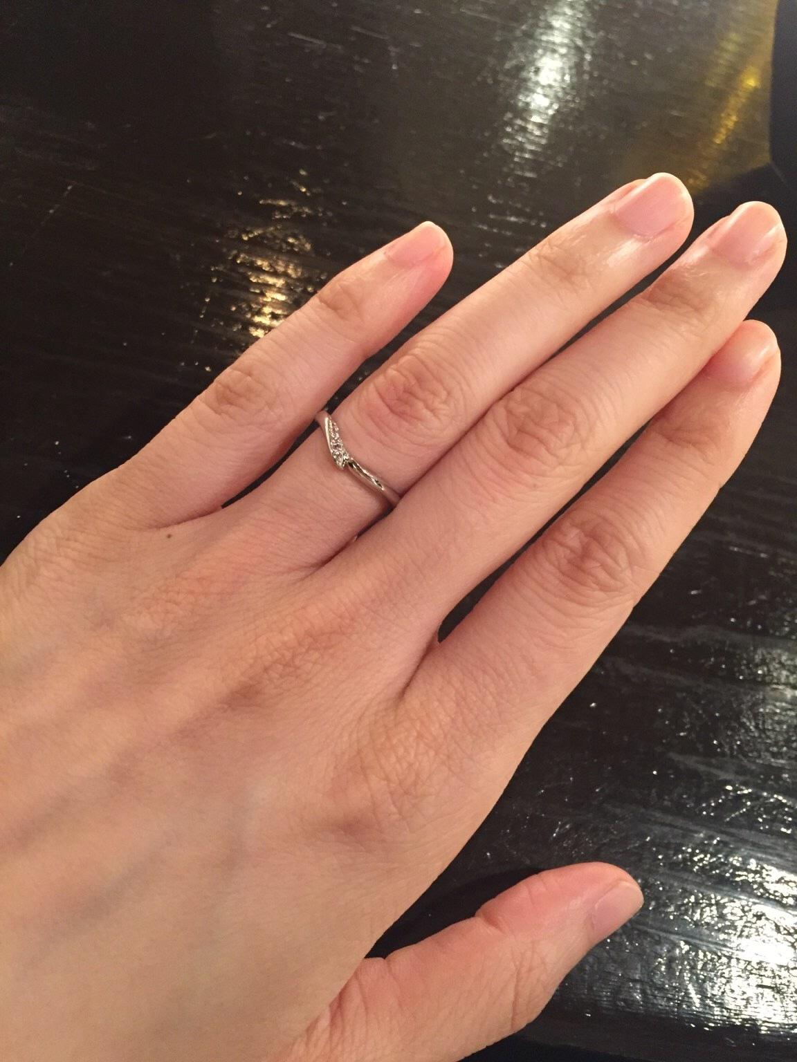 ピンクダイヤ 結婚指輪