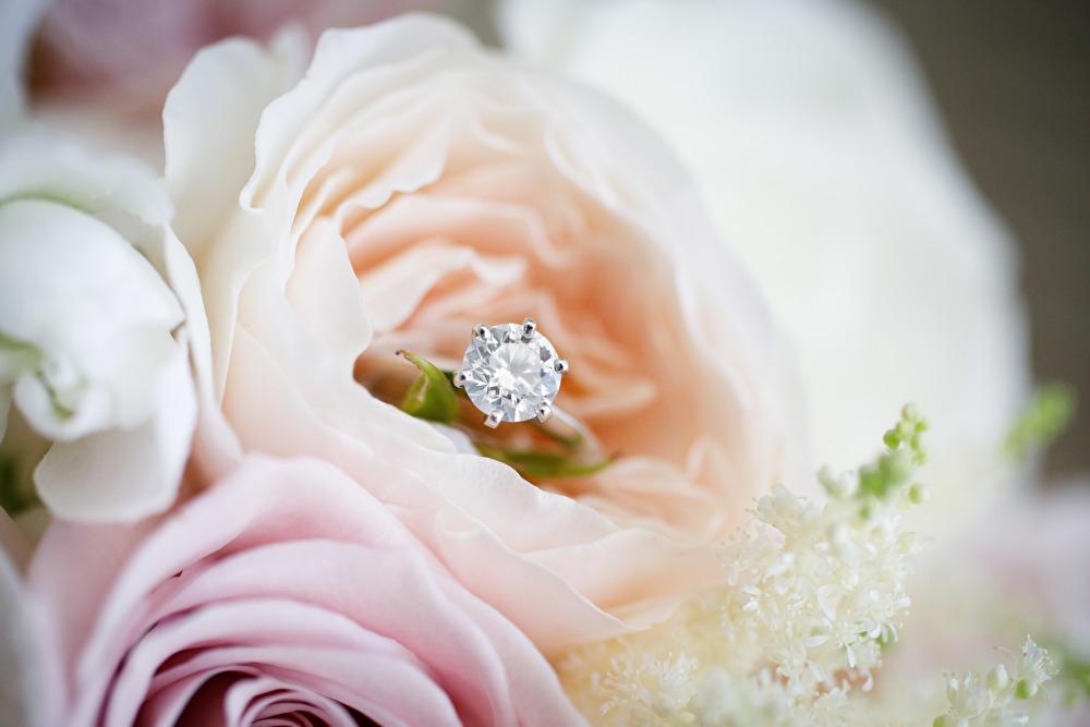 婚約指輪 6本爪ダイヤ