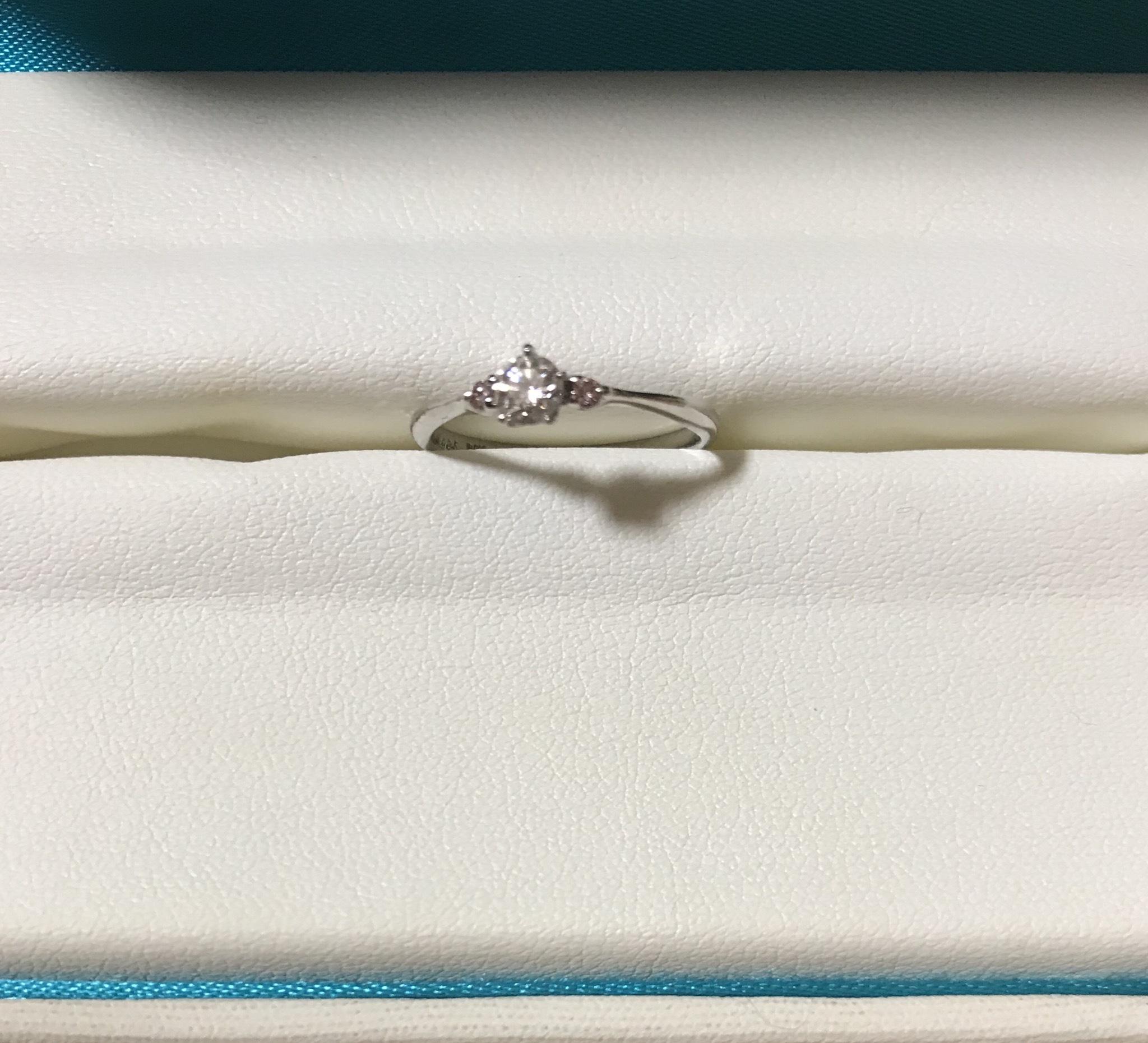 婚約指輪 ピンクダイヤ