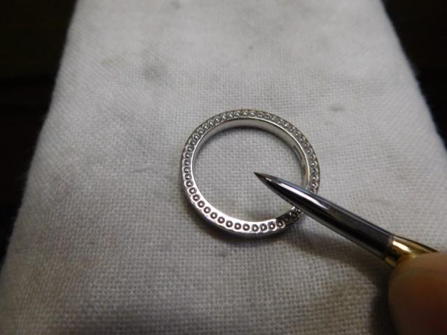 指輪 鏡面仕上げ