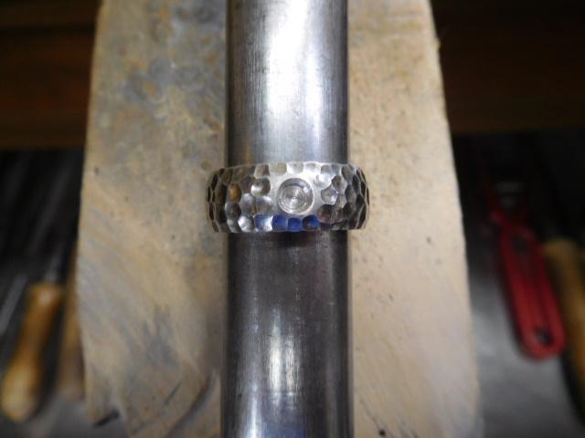 槌目模様 指輪