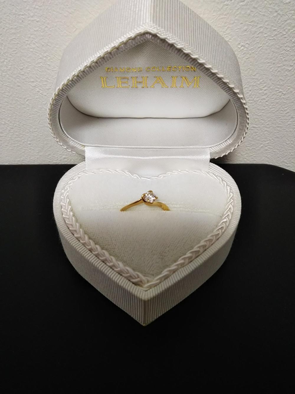 婚約指輪 ゴールド ダイヤ0.3カラット
