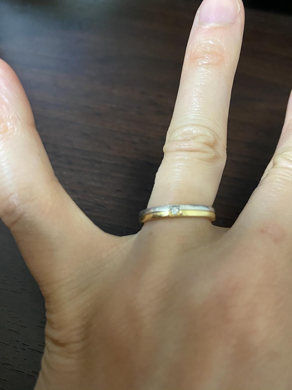 結婚指輪 ピンクゴールドとプラチナのコンビ
