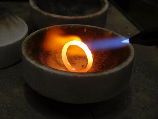 プラチナ999 指輪 ロウ付け