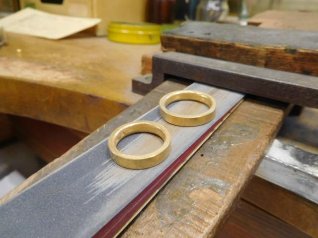 28金 結婚指輪 手作り