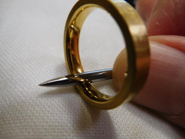 24金 手作り 指輪