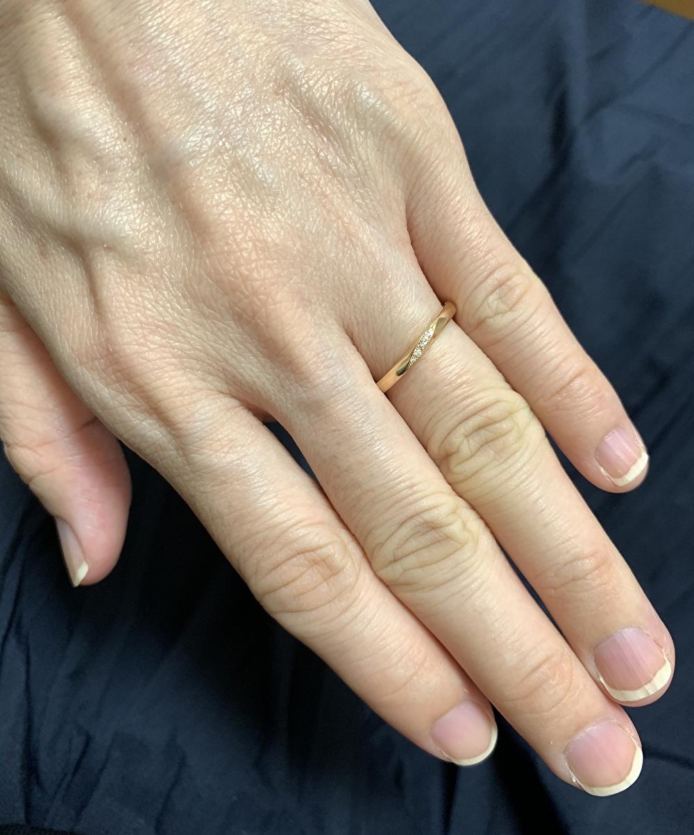 結婚指輪 ゴールド 華奢