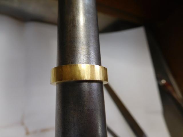 ゴールド 鍛造リング