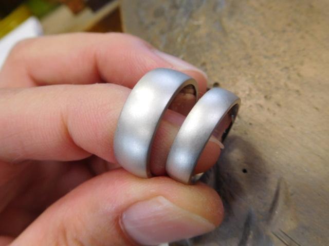 結婚指輪 艶消し
