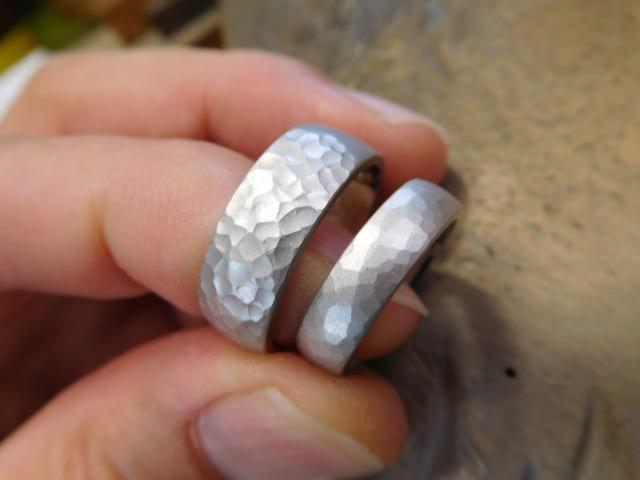 艶消し 結婚指輪 プラチナ