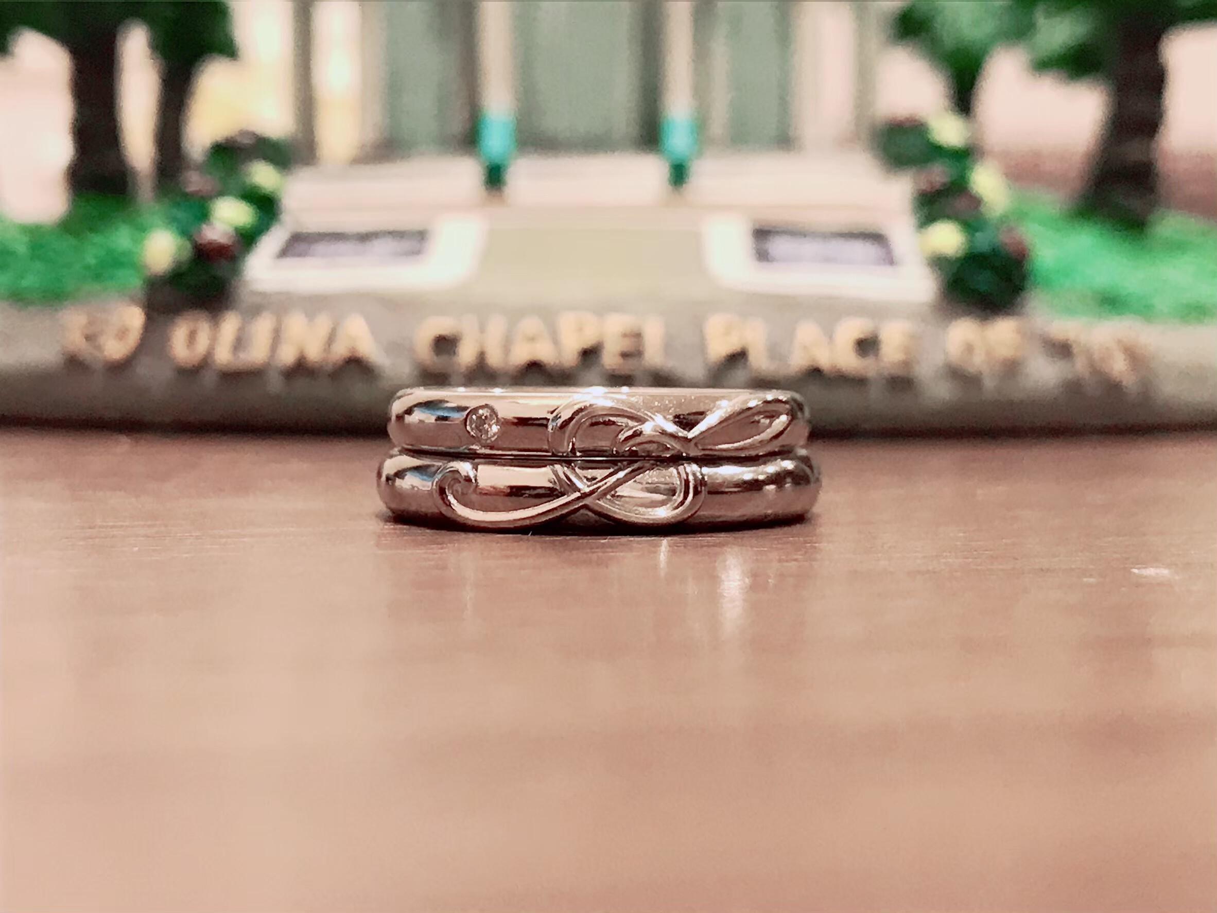 結婚指輪 音符