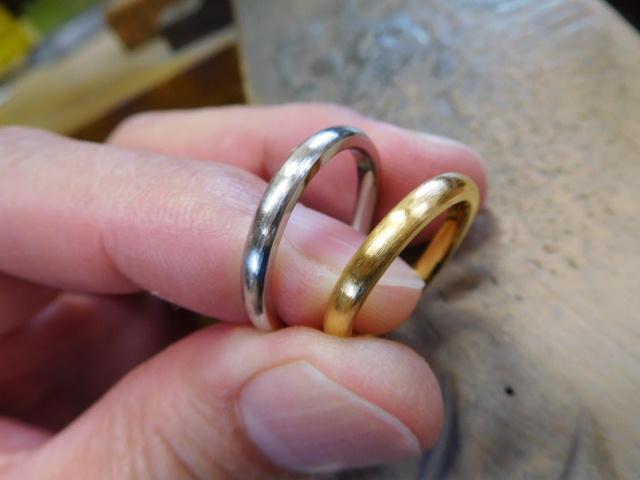 結婚指輪 純金 純プラチナ
