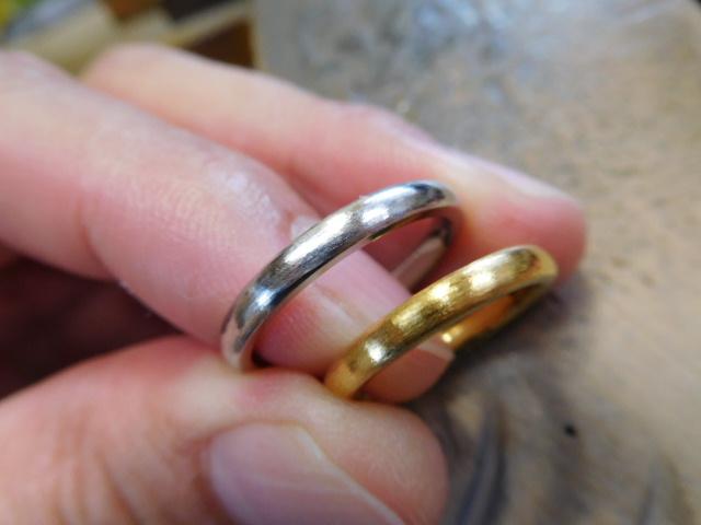 純金 結婚指輪 純プラチナ