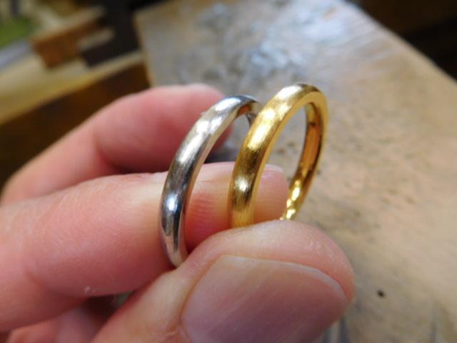 純金 純プラチナ 結婚指輪