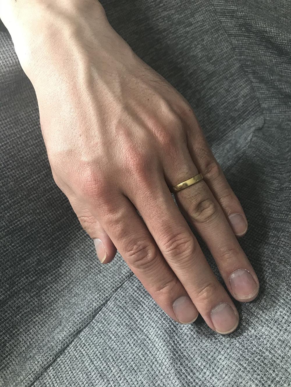 18金イエローゴールド 結婚指輪