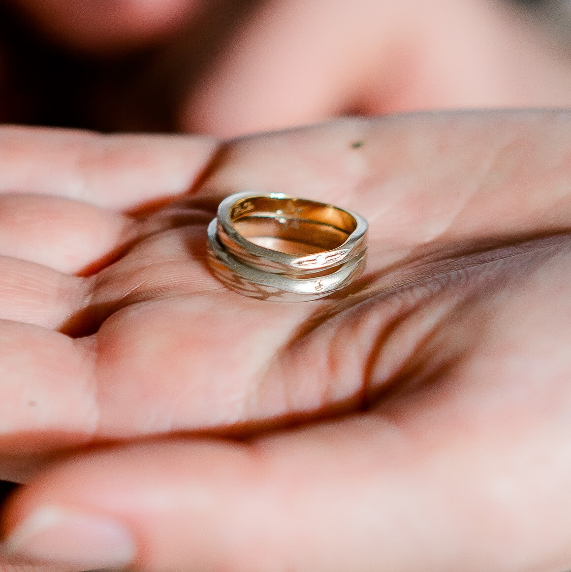 結婚指輪 杢目