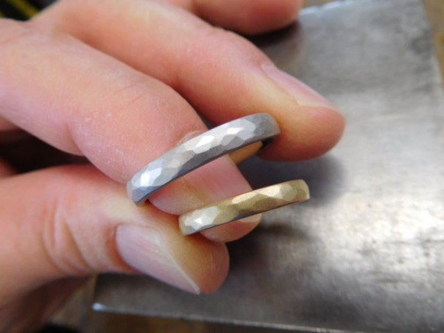 純プラチナ 純金 結婚指輪